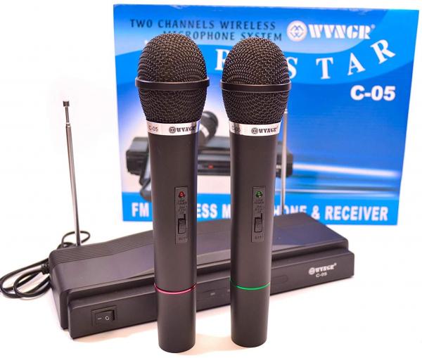 Set doua microfoane wireless cu receiver inclus C-05 [0]