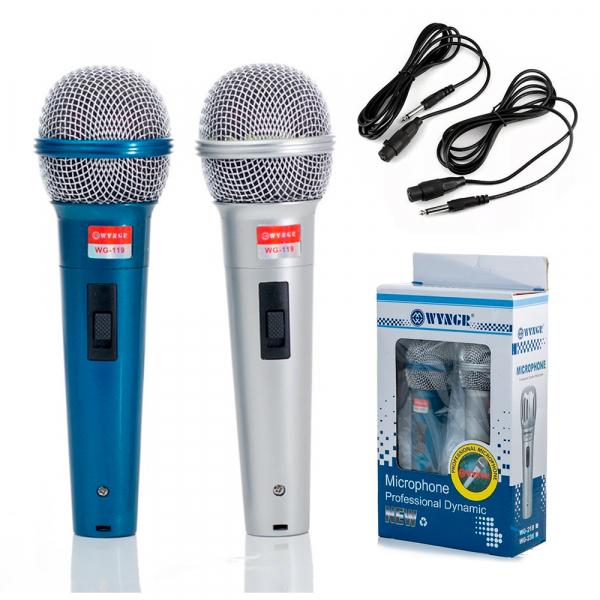 Set de 2 microfoane dinamice cu fir, 600 ohmi premium WG-119 0