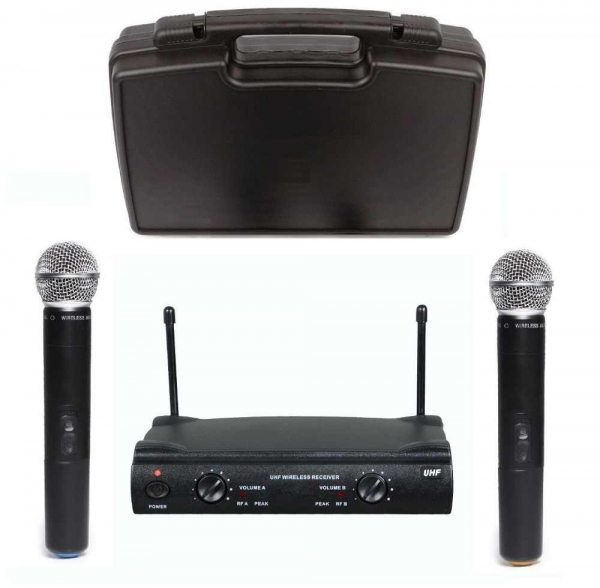 Set microfoane fara fir profesionale Shure UHF SM58 1