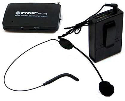 Set microfon wireless lavaliera tip casca WVNGR WG-101B 1