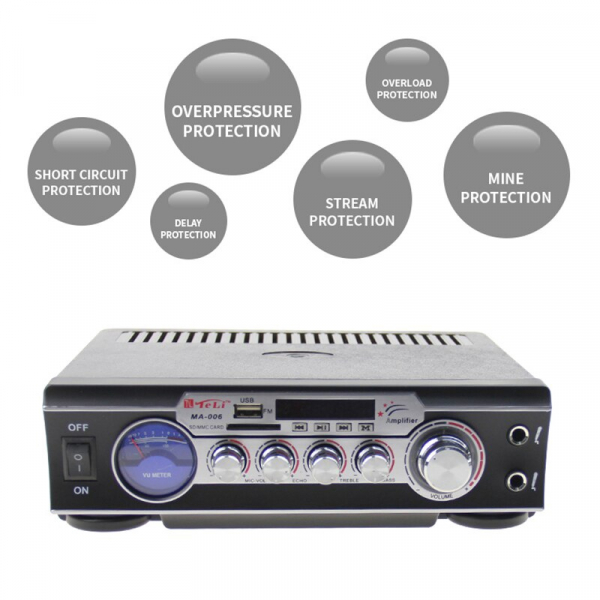 Statie audio pentru Karaoke MA-006 cu adaptor SD card si USB 3
