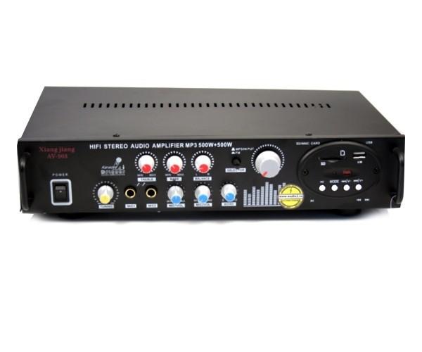 Statie de amplificare cu amplificator Karaoke AV-908, si USB slot, Radio Fm [0]