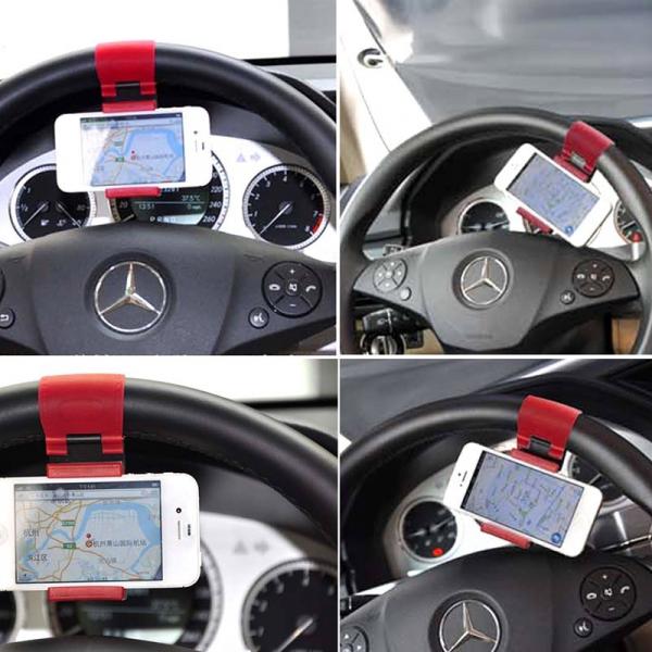 Suport auto telefon universal cu prindere pe volan 1