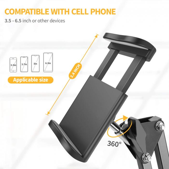 Suport de masa pentru telefon si tableta cu brat ajustabil [2]