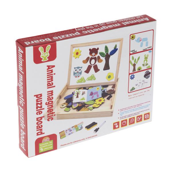 Tablita magnetica cu 2 fete si accesorii cu puzzle magnetice [1]