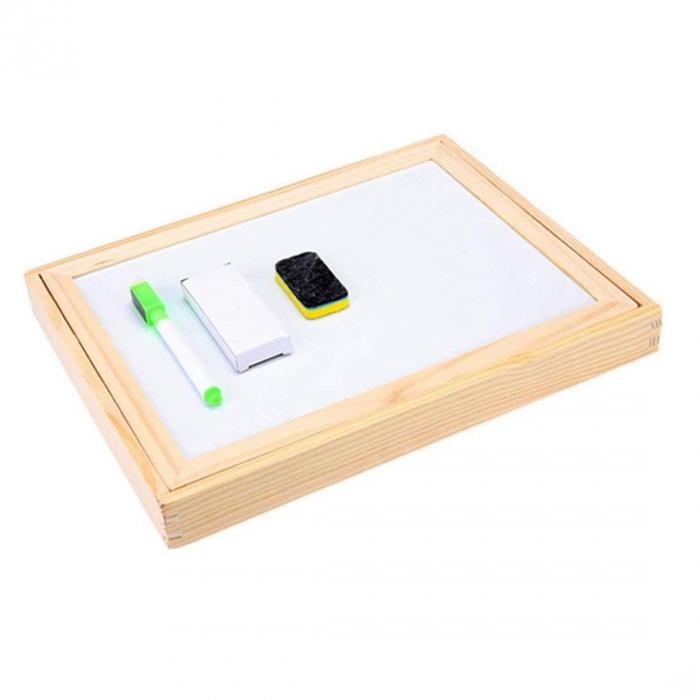 Tablita magnetica cu 2 fete si accesorii cu puzzle magnetice [3]