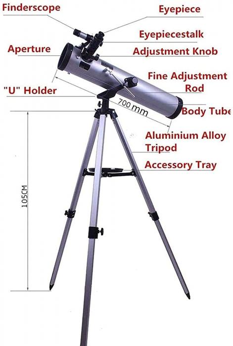 Telescop astronomic reflector F70076, cu trepied reglabil [2]