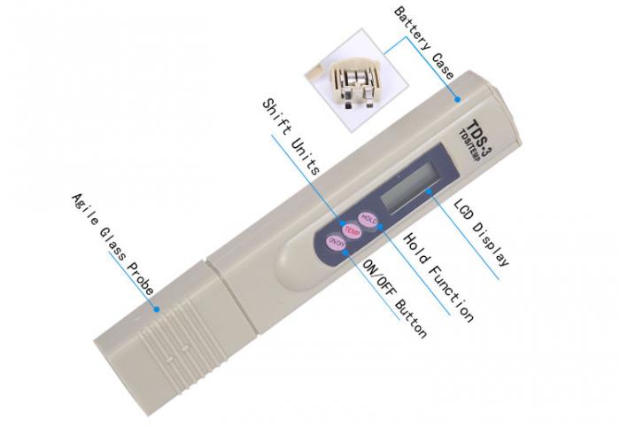Tester TDS-3 pentru masurat controlul puritatii si temperaturii apei [1]