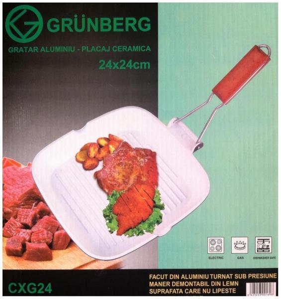 Tigaie tip grill cu ceramica Grunberg CXG24 0