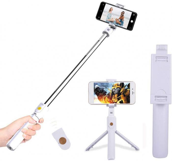 Selfie Stick cu trepied si telecomanda Bluetooth K07 [1]