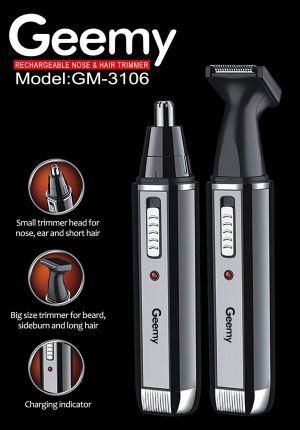 Trimmer nas si urechi 2in1 cu acumulator Geemy GM-3106 1