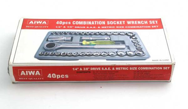 Trusa de chei tubulare cu 40 de piese incluse ''Aiwa' 3