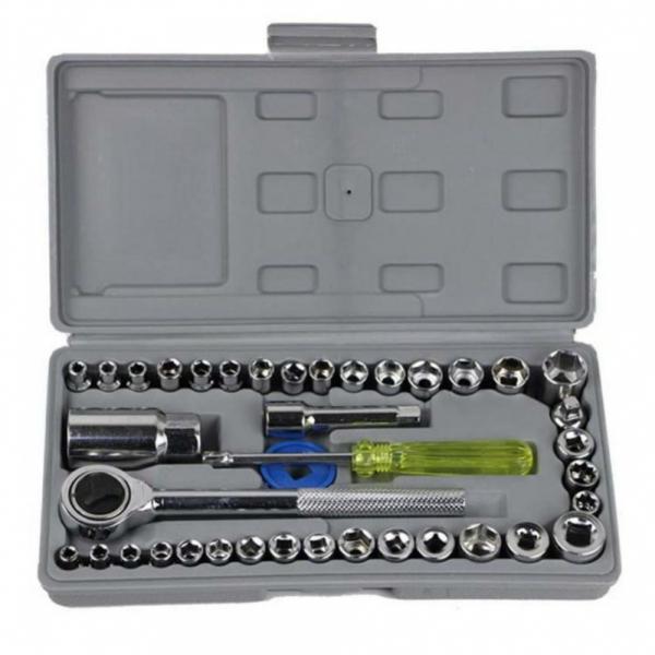 Trusa de chei tubulare cu 40 de piese incluse ''Aiwa' 1
