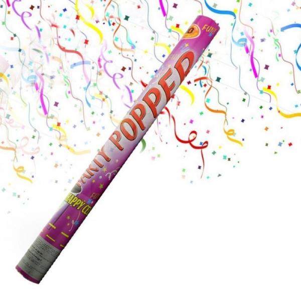 Tun de confetti pentru evenimente festive 96 cm 0