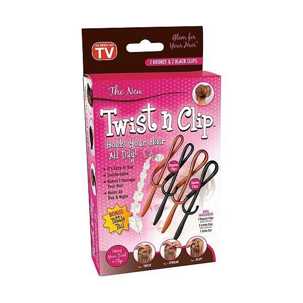 Twist n Clip set de 4 accesorii pentru par 1