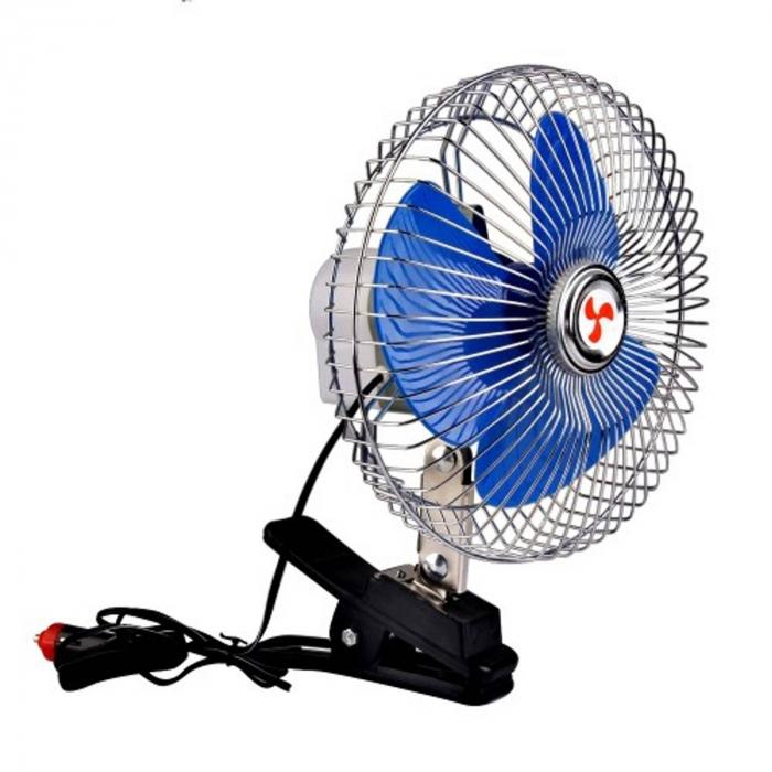 Ventilator auto 12V oscilant cu rama metalica inclusa,6 inch ( 15,24 cm )) 3