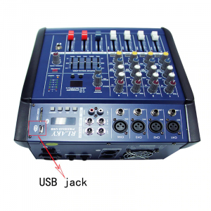Mixer profesional cu amplificare 200W si 4 canale PMX402D-USB1