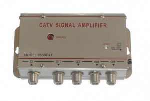 Amplificator semnal tv terestru cu 4 canale0