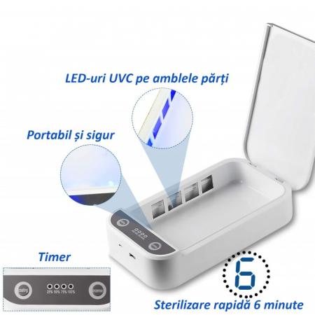 Sterilizator UVC pentru telefon sau obiecte mici cu putere 9W si functie aromaterapie [4]