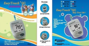 Aparat de masurat glicemie si colesterol EasyTouch GC0