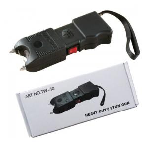 Aparat electrosoc pentru autoaparare cu lanterna si sirena TW-102