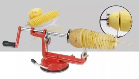 Aparat manual pentru cartofi spiralati pe bat,Spiral Potato Slicer [5]