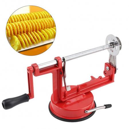 Aparat manual pentru cartofi spiralati pe bat,Spiral Potato Slicer [1]