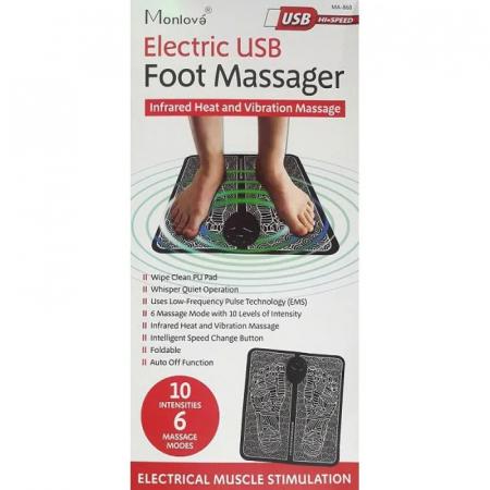 Aparat de masaj pentru picioare cu impulsuri electromagnetice, tehnologie EMS, reincarcabil USB [4]