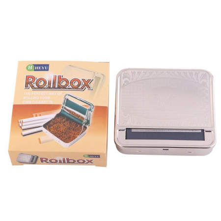 Aparat metalic pentru facut tigari, manual, Heyu Rollbox0