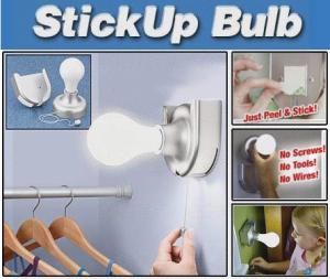 Bec cu intrerupator fara fir Stick Up Bulb1