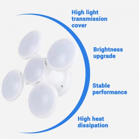 Bec cu panou solar si acumulator, 4 brate rabatabile si 5 trepte de iluminat5