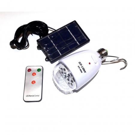 Bec economic cu telecomanda  si incarcare solara GD-Light 50051