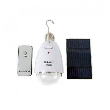 Bec economic cu telecomanda  si incarcare solara GD-Light 50053