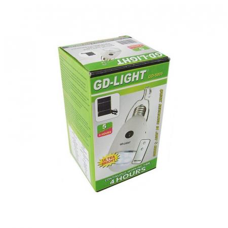 Bec economic cu telecomanda  si incarcare solara GD-Light 50052