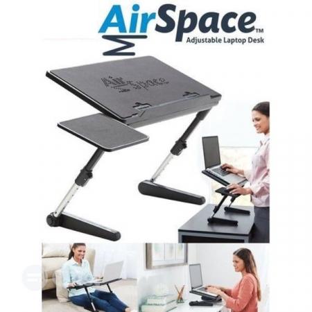 Birou portabil pentru laptop Air Space cu suport mouse si cooler [5]