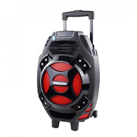 Boxa tip troler Temeisheng Q7S-16, cu microfon wireless si telecomanda [0]