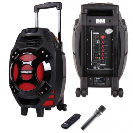 Boxa tip troler Temeisheng Q7S-16, cu microfon wireless si telecomanda [1]