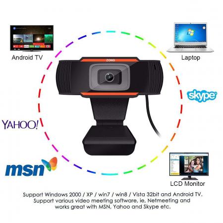 Camera web Full HD 1080P cu microfon incorporat, USB 2.05