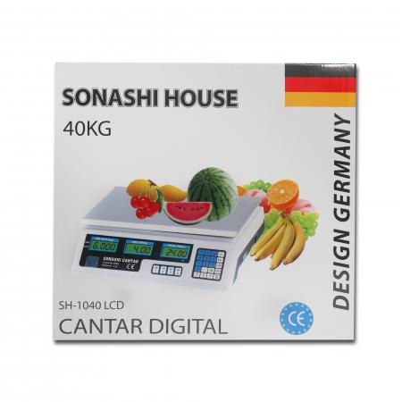 Cantar electronic 40 Kg profesional cu dublu afisaj si acumulator,Sonashi [3]