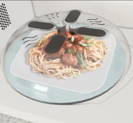 Capac magnetic pentru cuptorul cu microunde, Hover Cover Microwave Splatter Guard [3]