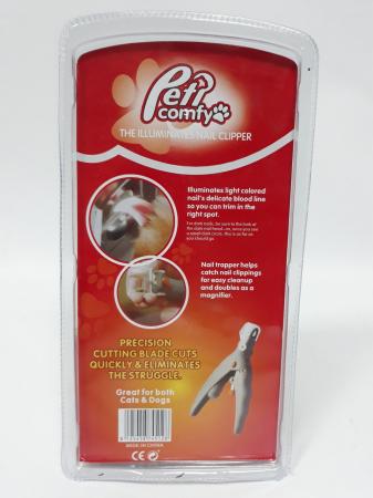 Cleste tip ghilotina pentru gheare animale, Peti Comfy cu lumina si factor marire 5X [6]