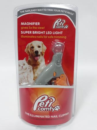 Cleste tip ghilotina pentru gheare animale, Peti Comfy cu lumina si factor marire 5X [5]