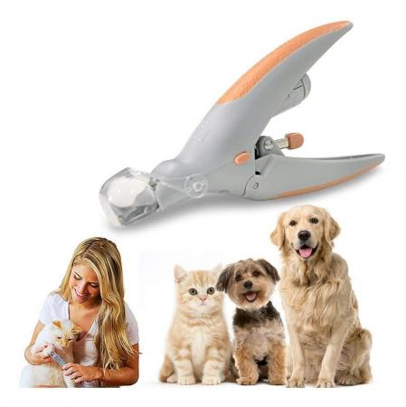 Cleste tip ghilotina pentru gheare animale, Peti Comfy cu lumina si factor marire 5X [2]