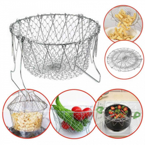 Cos Chef Basket 12 in 1 universal pentru gatit scurs din inox0