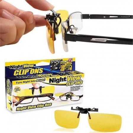 Clipsuri pentru ochelari Night View de condus noaptea sau pe timp de ceata [1]