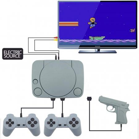 Consola de Jocuri Video Retro in memorie, cu 2 joystick-uri incluse, Jocurile Copilariei [0]