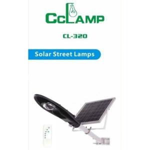 Corp de iluminat pentru exterior cu panou solar si proiector LED 20W-CL-3200