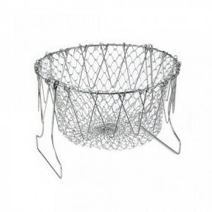 Cos Chef Basket 12 in 1 universal pentru gatit scurs din inox1