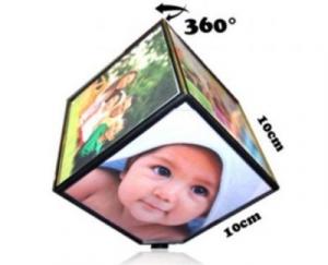 Cub rotativ foto personalizat cu 6 poze 10 x 10 cm0