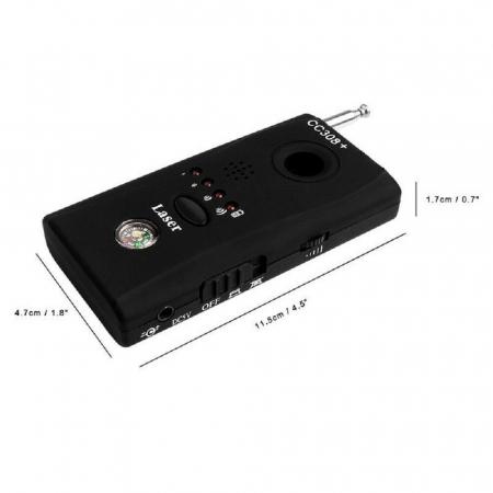 Detector optic-radio pentru camere si microfoane ascunse cu filtru IR, CC308+ [4]